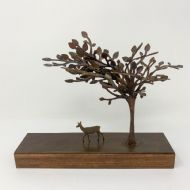 David Mayne 'Under the Tree' Oxidised Steel Sculpture